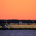 September Sunset over Puget Sound by Sue Morgan