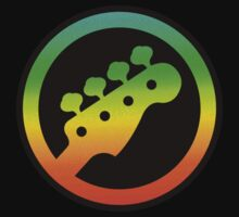 Bass  Guitar Colorful Symbol by mayala