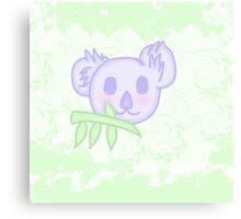 Kawaii Koala with a bamboo  Canvas Print