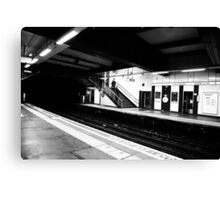 Tube Station Canvas Print