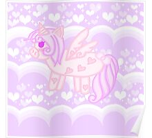 Kawaii Pixel Unicorn  Poster