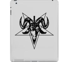 Satanic Goat Head with Pentagram (black) iPad Case/Skin