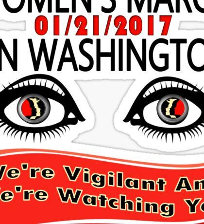 1-21-2017 Women March On Washington, DC Sticker