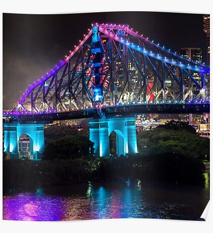 Story Bridge on New Years Eve 2016 in Brisbane Poster