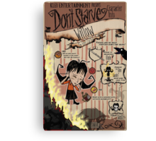Don't Starve- Willow Canvas Print