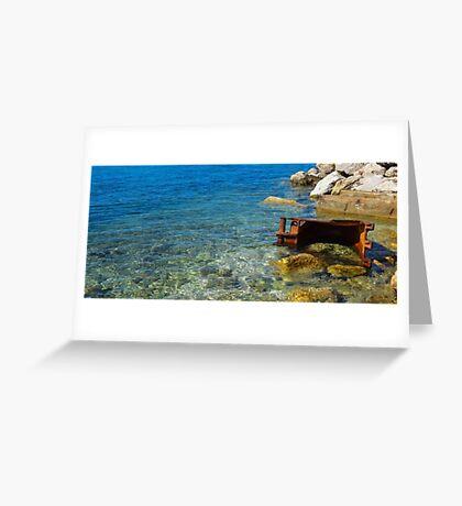 Seaside Decay Greeting Card