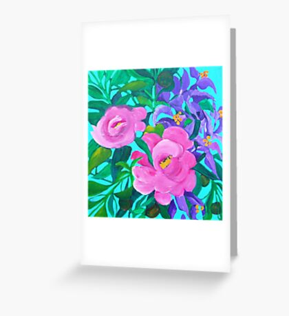 Floral square Greeting Card