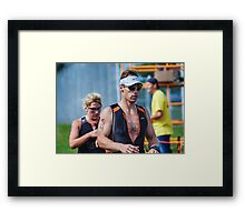 Mike at the Finish 3,2014.08.17 Framed Print