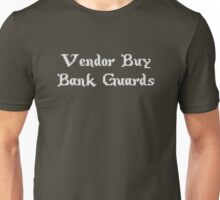 Vintage Online Gaming Vendor Buy Bank Guards Unisex T-Shirt