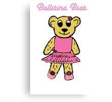 Ballerina Bear Canvas Print