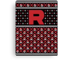 Christmas I Choose You! - Team Rocket Christmas Sweater Canvas Print