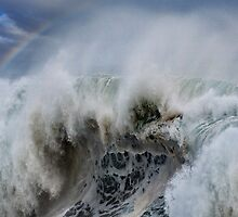 Monster Waves At Pipeline by Alex Preiss