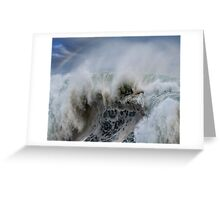 Monster Waves At Pipeline Greeting Card