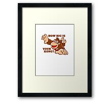 Donkey Kong How Big Framed Print