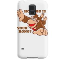 Donkey Kong How Big Samsung Galaxy Case/Skin