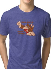 Donkey Kong How Big Tri-blend T-Shirt