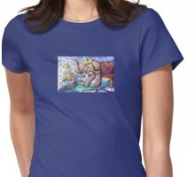 Elephant-Painting Womens Fitted T-Shirt