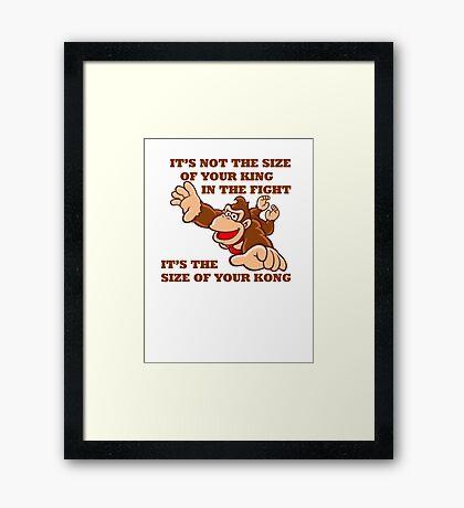 Donkey Kong King Size Framed Print