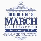 Million Women's March on CALIFORNIA State 2017 Redbubble T Shirts by e-Designs