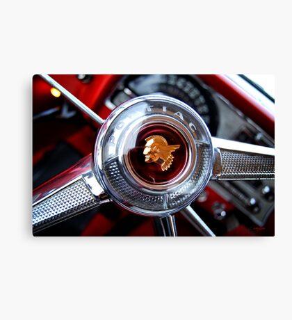 Pontiac 1954 Steering Wheel Canvas Print