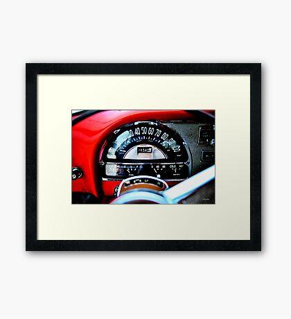 Pontiac 1954 Dash Framed Print