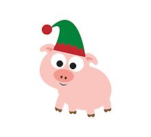 Christmas Pig Elf by Eggtooth