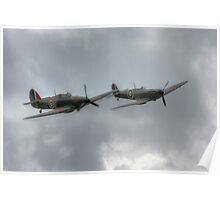 Mk1 Spitfire and Hurricane Poster