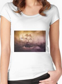 Hiding Women's Fitted Scoop T-Shirt