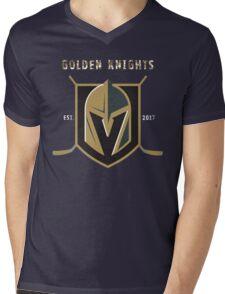 A Golden Vegas Sports Shirt Knight Emblem Epic T-Shirt Mens V-Neck T-Shirt