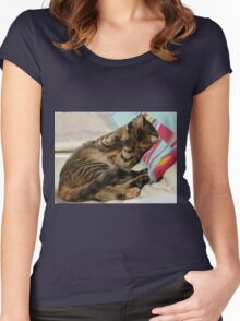 I'm Camera Shy.......... Women's Fitted Scoop T-Shirt