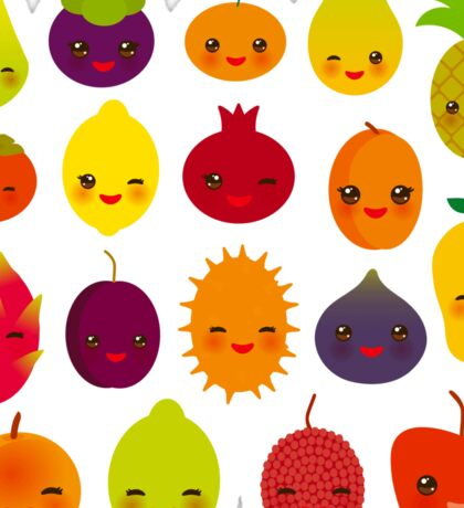 Happy Fruit Sticker