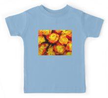 Painted Yellow Roses Kids Tee