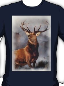 MONARCH OF THE GLEN, Digital Painting of this famous Stag T-Shirt