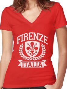 Firenze, Italia Women's Fitted V-Neck T-Shirt