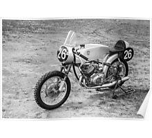 German Classic Racing Motorcycle Poster