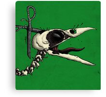 Scissor Crow Canvas Print