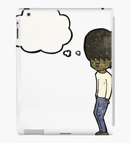 cartoon boy with speech bubble iPad Case/Skin
