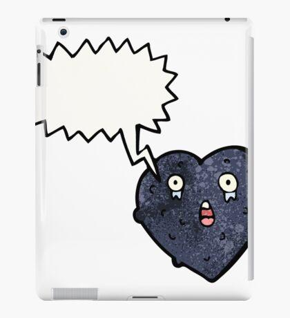 cartoon black heart iPad Case/Skin