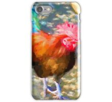 Little Blue and Red Rooster iPhone Case/Skin
