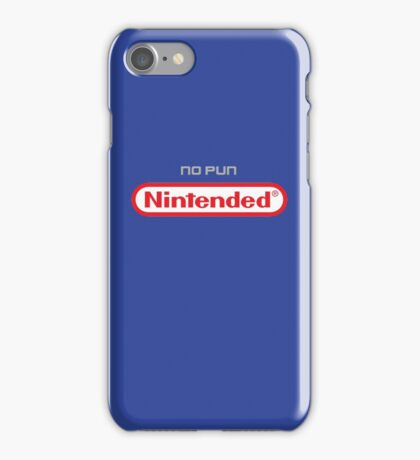 No Pun Nintended iPhone Case/Skin