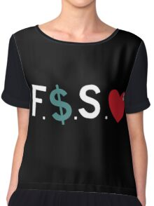J.Cole / Fuck Money Spread Love Chiffon Top