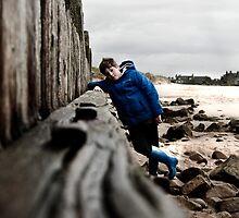 Nathan at Lossiemouth beach by Matthew Gordon