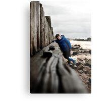 Nathan at Lossiemouth beach Metal Print