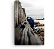 Nathan at Lossiemouth beach Canvas Print
