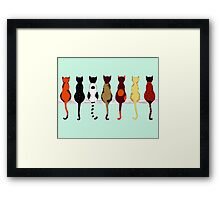 Fence sitters (Green) Framed Print