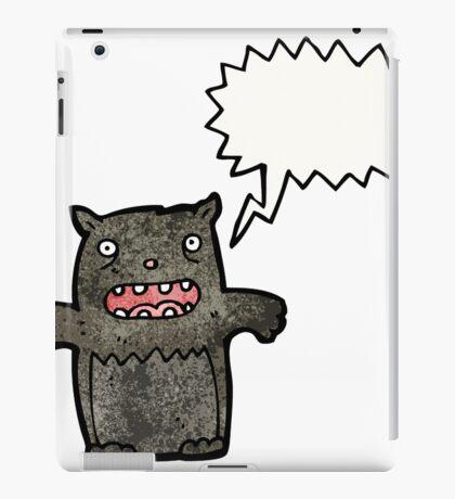 screeching cat cartoon iPad Case/Skin