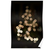 Christmas Tree Bokeh Poster