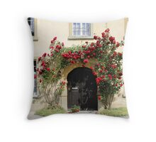 Rose Castle Entrance Doorway Throw Pillow