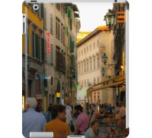 Florence street scene iPad Case/Skin