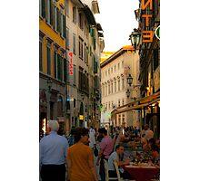 Florence street scene Photographic Print